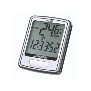 BBB cycling Compteur ''DASHBOARD'' 10 fonctions filaire Noir/Blanc BCP-06
