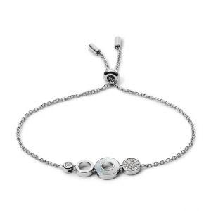 Fossil Bracelet chaîne à maillons ovales Gris