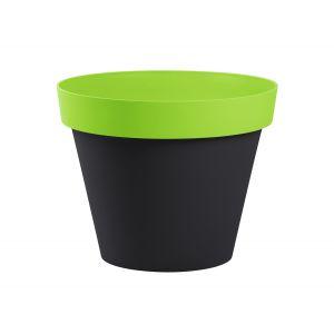 Eda Plastiques Style - Pot de fleur rond bicolore Ø60 x 47 cm