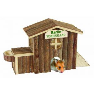 Karlie 84785 - Maison pour rongeur en bois Alaska 17 x 11 x 9 cm