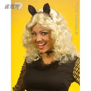 Widmann Moustache de chat noir adulte