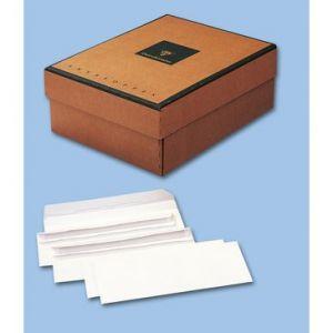 Clairefontaine CLAIR ALFA Enveloppe commerciale, format internationalDL, 110x220mm, ouverture sur la longueur, bande autoadhésive, blanc