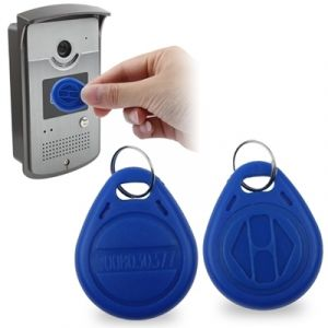WeWoo Pour le contrôle d accès bleu Porte-clés de jeton de carte d identité de proximité RFID résistant à l eau Porte clés