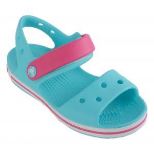 Crocs Crocband Sandal - Kids, Sandales Mixte Enfant, Bleu (Pool/Candy Pink) 27/28 EU