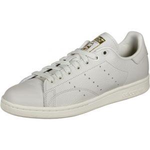 Adidas Stan Smith W Chaussures de Gymnastique Femme, Blanc Raw White/Collegiate Burgundy/Periwinkle), 39 1/3 EU