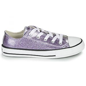 Converse Baskets basses enfant CHUCK TAYLOR ALL STAR - COATED GLITTER Violet - Taille 36,37,38,27,28,29,30,31,32,33,34,35