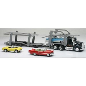 New Ray 15215 Bss - Camion américain transport auto + 3 voitures vintage - Echelle 1/43