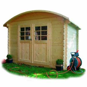 Solid S844 - Abri de jardin Deauville 1 en bois 28 mm avec toit rond 7 m2