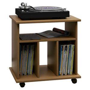 Vcm Mobilier pour Disque Vinyle Retal, Chêne Rustique, 59 x 60 x 45 cm