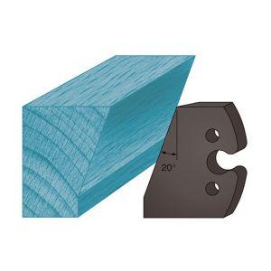 Diamwood Platinum Jeu de 2 contre-fers profilés Ht. 48 x 5,3 mm chanfrein 30° A230 pour porte-outils de toupie