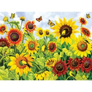 Sunsout Nancy Wernersbach - Sunflowers & Goldfinches