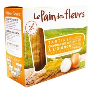 Le pain des fleurs Tartines craquantes à l'oignon - 150g