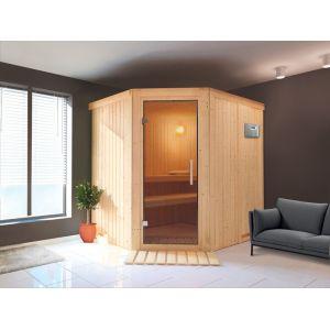 Veryspas Sauna Vapeur Angulaire traditionnel Finlandais 2-4 places Ulla Prestige Selects
