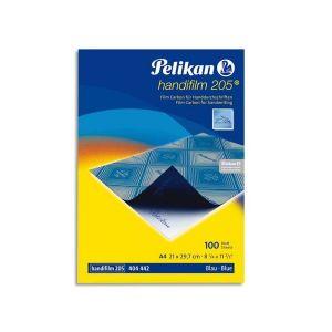 Pelikan Pochette de 10 films bleues carbone A4 Plenticopy pour écriture main, dos ciré - Lot de 4