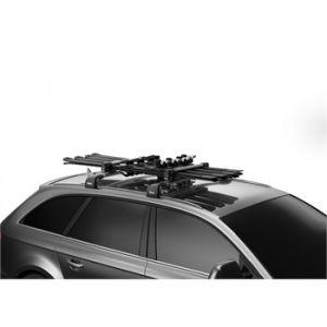 Thule Porte-skis sur barres de toit SNOWPACK 7324 pour 4 paires de skis ou 2 snowboa