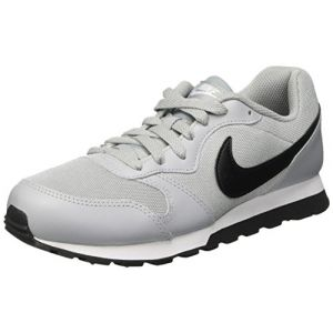 Image de Nike MD Runner 2 (GS), Baskets Garçon, Gris (Wolf Grey/Black-White), 36 EU