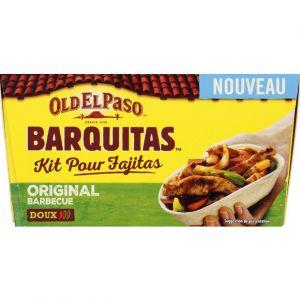 Old el paso Barquitas kit pour fajitas original barbecue doux
