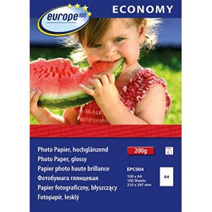 Europe 100 100 feuilles de papier photo 200g/m² (A4)