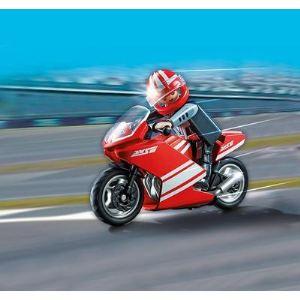 Playmobil 5522 Sports et Action - Moto de course rouge