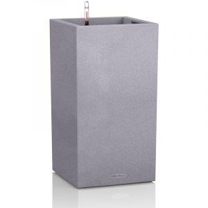 Lechuza Pot carré haut gris gamme Canto color dimensions L40xl40xH75,8 cm