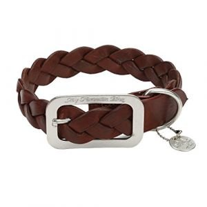Designed by Lotte Collier en Cuir pour Chien Marron 57x3,5 cm