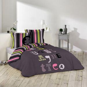 Lulu Castagnette Atelier - Housse de couette et 2 taies 100% coton (220 x 240 cm)