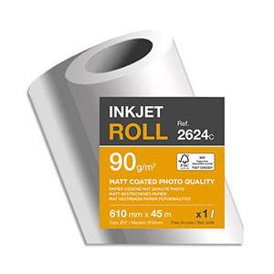 Clairefontaine Rouleau papier traceur couche mat - 0,61 x 45 m - 90 g