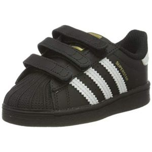Adidas Superstar CF I, Basket Mixte Enfant, Core Black/FTWR White/Core Black, 21 EU