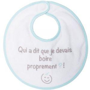 Babycalin Bavoir naissance Smiley attache aimantée