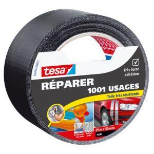 Tesa Ruban multi-usages - extra noir - 25 m x 50 mm - Ruban couleur