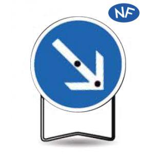 Taliaplast 524425 - Panneau signalisation prescription b21 flèche orientable t1 650mm