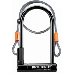 Kryptonite Keeper Standard + Kflex - Antivol vélo - 120cm noir/argent Antivols en U