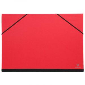Clairefontaine Carton à dessin de couleur, 37 cm x 52 cm, A3 - 37x52cm, Rouge