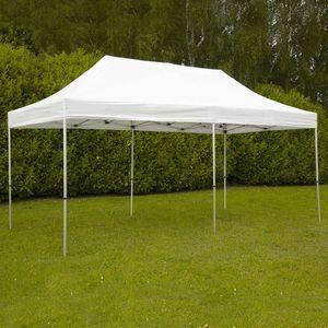 MobEventPro Tente de réception blanche pliante 3x6m 300g/m² 40mm