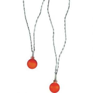 Polarlite 684896 - Guirlande lumineuse à motifs boules LED pour l'intérieur secteur rouge 10.7 m