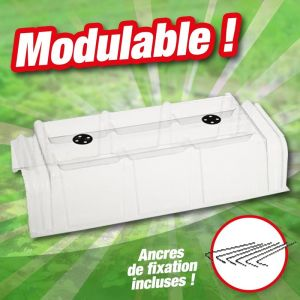 Outiror Tunnel de forçage PVC souple et modulable