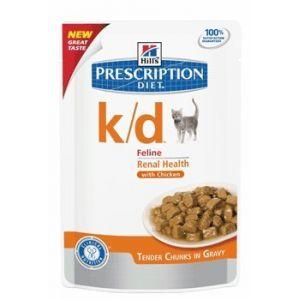 Hill's Feline k/d - Sac 12 sachets de 85 g, Saveur : Salmon
