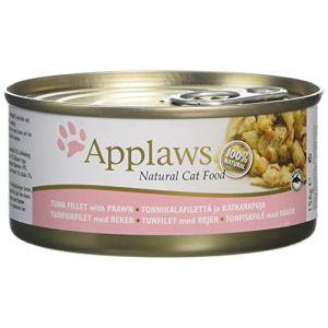 Applaws Boîte pour chat - Filet de thon/crevettes 156 g
