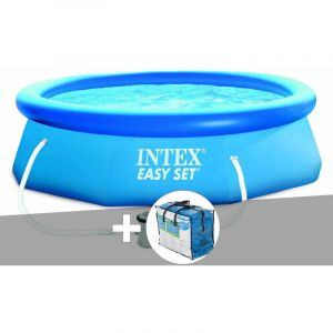 Intex Kit piscine autoportée Easy Set 3,05 x 0,76 m + bâche à bulles