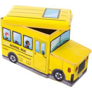 Bieco Coffre de rangement banquette School Bus