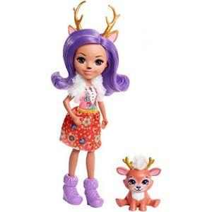 Mattel Enchantimals - Mini poupée et Animal - Danessa Biche