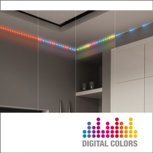 Xanlite Kit Strip LED digital 5m couleurs changeantes