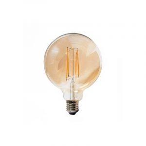 V-TAC VT-2153 Ampoule globe LED 12,5W filament G125 E27 verre ambre blanc chaud 2.200K - SKU 7456