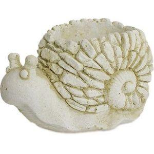 Deco granit Cache pot en pierre reconstituée escargot