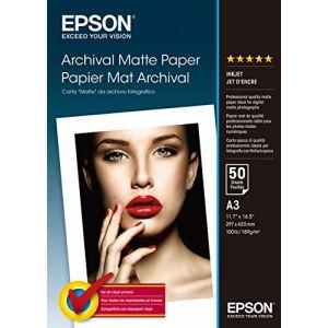 Epson 50 feuilles de papier mat Archival 192g/m² (A3)