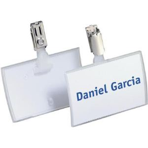 Durable 8216-19 - Badge et porte-noms Click Fold avec clip (90 x 54 mm)