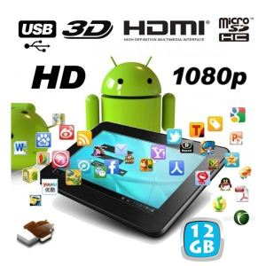 "Yonis Y-ttc7hd3d12go - Tablette tactile 7"" 4 Go interne + Micro SD 8 Go sous Android 4.0"