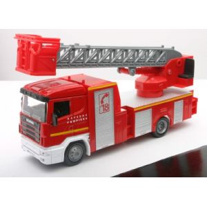 New Ray 15573 F - Die Cast camion pompier grande Scania