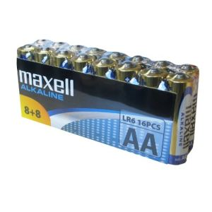 Maxell 16 piles alcalines LR06 AA