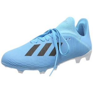 Adidas X 19.3 FG J, Chaussures de Football bébé garçon, Bleu Bright Cyan/Core Black/Shock Pink, 37 1/3 EU
